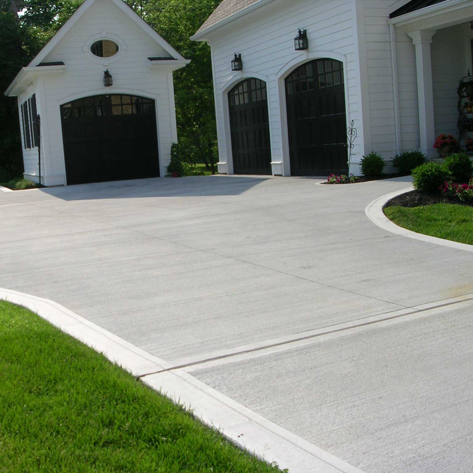 concrete driveway, sidewalk, patio. custom design available