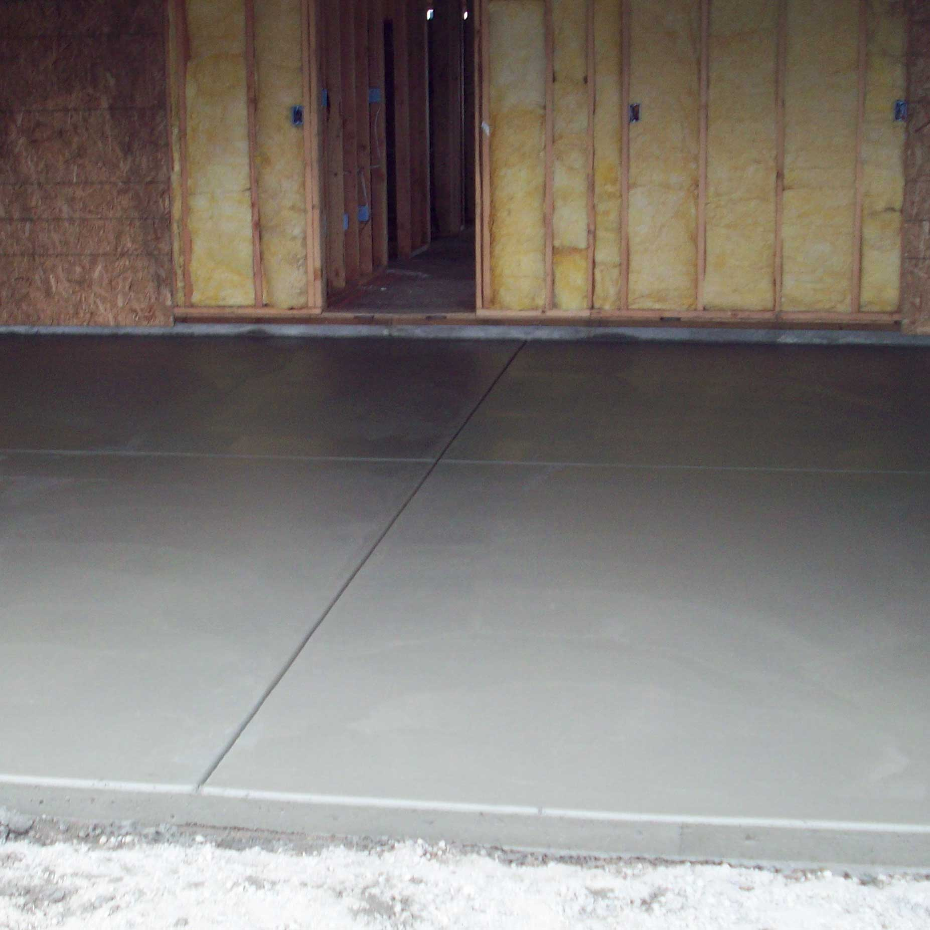 polished and non-polished garage, basement floor or slab concrete