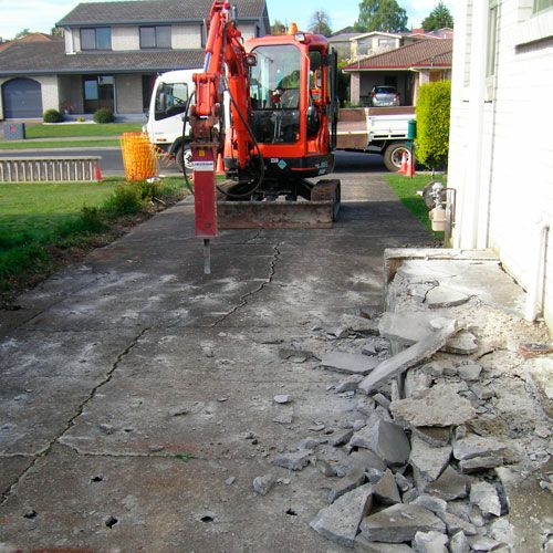 concrete removal, breakout sidewalks, breakout driveway, breakout concrete. big or small, we have the equipment to remove your concrete