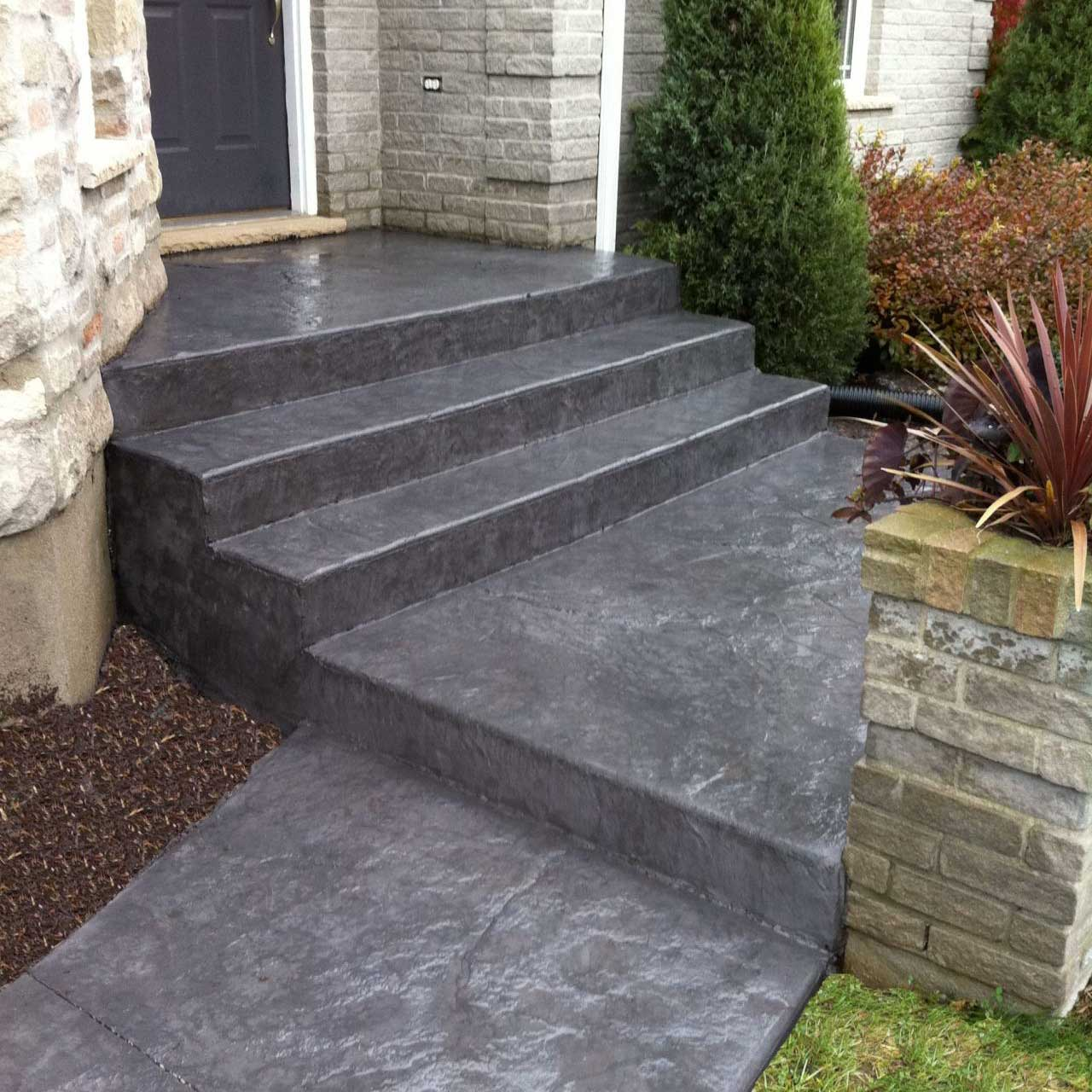 concrete steps, ramps, retaining walls and footings