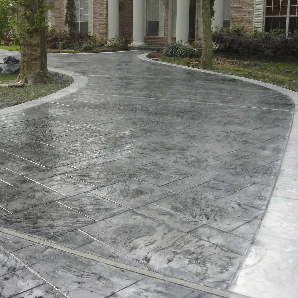 decorative concrete; stamped concrete, exposed aggregate concrete, coloured concrete, custom designed options available